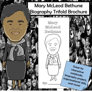Mary McLeod Bethune Biography Trifold Brochure