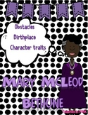 Mary McLeod Bethune {Character Girl} #thirdgradetribe