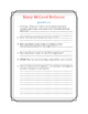 Mary McLeod Bethune Close Read, Comprehension, and Writing Packet