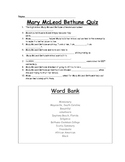 Mary McLeod Bethune Fill-in-the-Blank Quiz