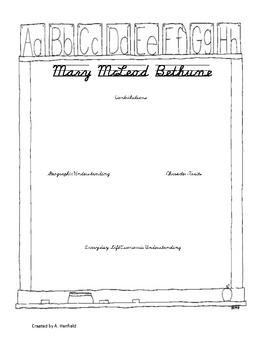 Mary McLeod Bethune Graphic Organizer and Quiz