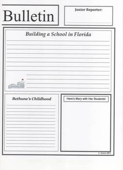 Mary McLeod Bethune Newspaper