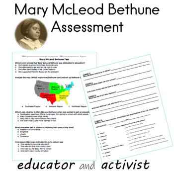 Mary McLeod Bethune Read and Respond