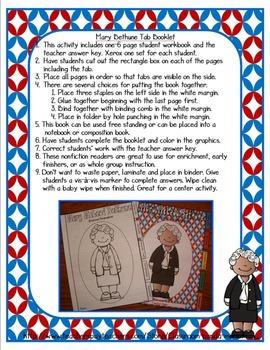 Mary McLeod Bethune Tab Booklet