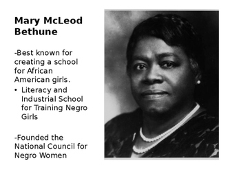Mary McLeod Bethune Word Wall- English and Spanish