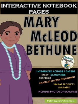 Mary McLeod Bethune's Interactive Notebook Pages