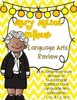 Mary McLeod Bethune's Language Review {Common Core Language Arts Practice}