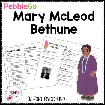 Mary McLeod Bethune PebbleGo research brochure