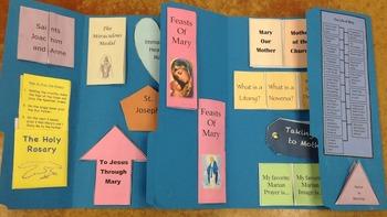 Mary, Mother of God Faith Folder Lapbook