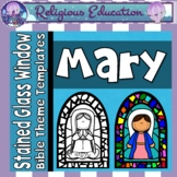 Mary, Mother of God Stained Glass Windows {Bible Religious Theme}