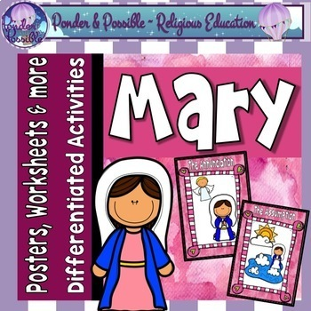 Mary, Mother of Jesus ~ Bible Activities, Posters, Art and more
