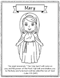 FREEBIE! Mary, Mother of Jesus, Christmas Coloring Page Cr