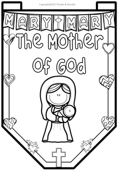 Mary, Mother of Jesus / God Banner Templates