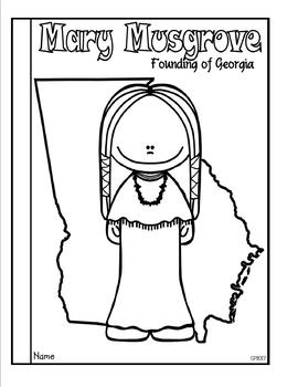 Mary Musgrove: Founding of Georgia Tab Booklet
