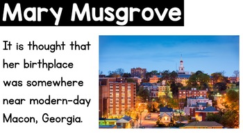Mary Musgrove Powerpoint Women's History Month