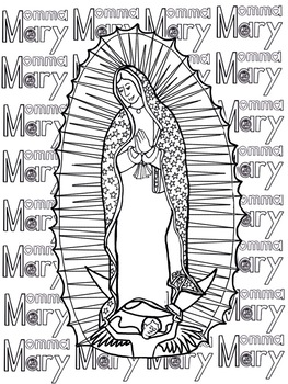 Mary Our Mother Prayers, Notebooking, Coloring, etc