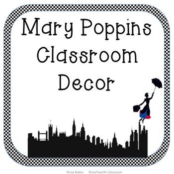 Mary Poppins Classroom Decor Set