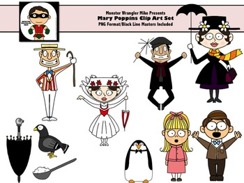 Mary Poppins Clip Art Collection