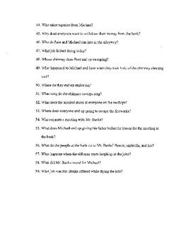 Mary Poppins - Video Worksheet