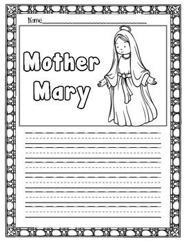 Mary Prayer Writing Page