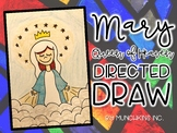 Mary, Queen of Heaven Directed Drawing {A Mary Craftivity}