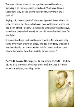 Mary, Queen of Scots Execution Primary Source Handout