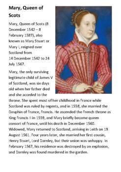 Mary Queen of Scots Handout