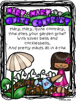 Mary, Quite Contrary Nursery Rhyme Investigation