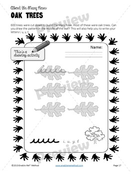 Early Years Cursive Handwriting Worksheets for 5 - 7 years: Mary Rose