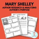 Mary Shelley - Author Study Worksheet, Author's Purpose, A
