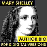 Mary Shelley Author Study Worksheet, PDF & Google Drive, B