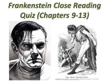 Frankenstein by mary shelley teaching resources teachers pay teachers frankenstein by mary shelley chapters 9 13 quiz short answer response fandeluxe Choice Image