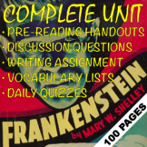 FRANKENSTEIN 100-Page EDITABLE Unit | Mary Shelley | Rigor for HONORS & AP LIT!!