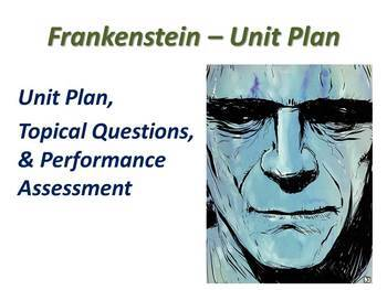 Frankenstein by mary shelley teaching resources teachers pay teachers frankenstein by mary shelley unit plan with performance based assessment fandeluxe Choice Image