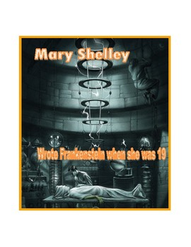 Mary Shelly Frankenstein Young Author Poster