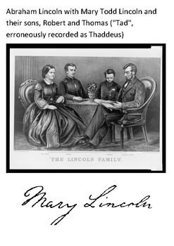 Mary Todd Lincoln Word Search