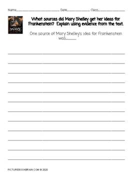 Mary Who Wrote Frankenstein by Linda Bailey Lesson Plan and Activities