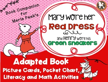 Mary Wore Her Red Dress Adapted Book, Pocket Chart Activity, Literacy & Math