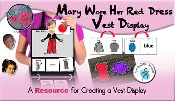 Mary Wore Her Red Dress Vest Display - SymbolStix