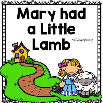 Mary had a Little Lamb Nursery Rhyme Activities