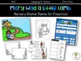 Mary had a Little Lamb Nursery Rhyme Theme Pack