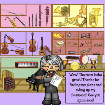 Mary's Music Class- Interactive Musical Instrument Game