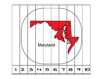 Maryland Counting to 10 Puzzle