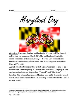 Maryland Day - Review article - history - facts celebration - March 25