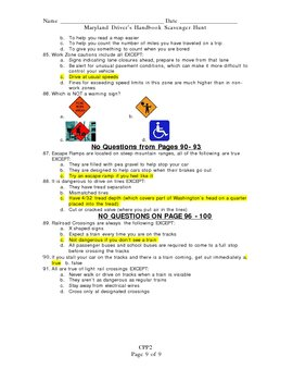 Maryland Driver's license study guide