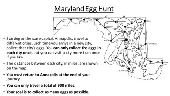 Maryland Easter Math Activity