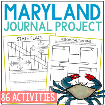 MARYLAND History Project, Differentiated State Research Journal {EDITABLE}