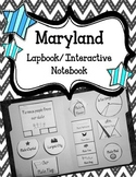 Maryland Lapbook/Interactive Notebook.  US State History and Geography