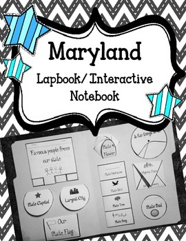 Maryland Lapbook/Interactive Notebook.  US State History a
