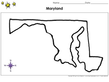Maryland Map - Blank - Full Page - Virginia's Bordering State King Virtue